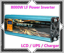 DE~32000W/8000W LF Pure Sine Wave Power Inverter 12V DC/230V AC LCD/UPS/Charger