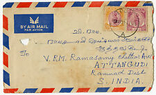 MALAYSIA - 2 x covers, Ipoh to South India & Malaya meter mark, 4 photos (M23)