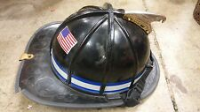 Traditional Style Fire Fighter Helmet Black Ben 2 b