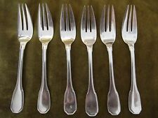 "antique french sterling silver (950) pastry forks ""contours-outlines"" 192gr"