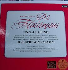 """J. STRAUSS DIE FLEDERMAUS EIN GALA ABEND-KARAJAN-KMENTT-BERRY-12""""LP [k412]"""