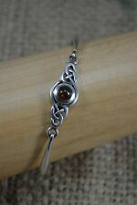 KIT VINTAGE Heath 98 Sterling Silver e Amber Celtico Braccialetto Bracciale 17mm