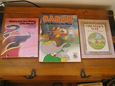 Lot of 3 CHESTER'S WAY Babar Race to the Moon WHERE ARE YOU GOING Hardcover Book