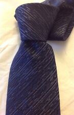 LANVIN Paris France Navy Neck Tie Wool Silk Brand New NWT