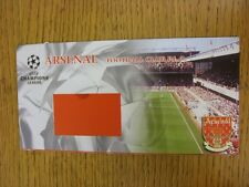 circa 1997 Arsenal: Champions League Ticket Wallet (Empty). This item has been i