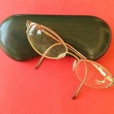 FRENCH ARISTAR 1960s WOMAN GOLD CAT EYE EYEGLASSES -MADE IN FRANCE - MINT IN BOX