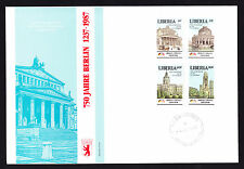 Liberia 1987 First Day Cover 750th Anniversary of Berlin cachet & stamps FDC FDI