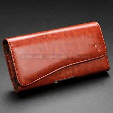 HORIZONTAL CELL PHONE POUCH COVER BELT CLIP HOLSTER CASE WALLET CARD HOLDER