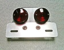 Motorcycle Dual Lens Motorcycle Tail Light / License Plate Mount Tracker