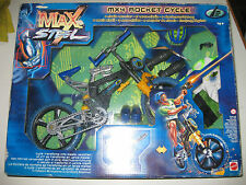 MAX STEEL MX4 ROCKET CYCLE AND MISSILE LAUNCHER-RARE-NUEVO-UNOPENED-1999 MATTEL