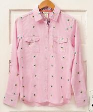 NWT MATILDA JANE Corn Stalk COUNTRY Cowgirl Pink Gingham Check Shirt Large L 12