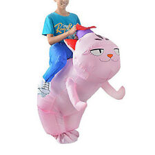 Inflatable Cat Rider Suit Halloween Fun & Fancy Party Dress Costume