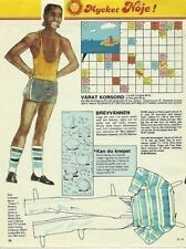 Gene Anthony Ray FAME TV Rare 1980s Vintage Paper Doll