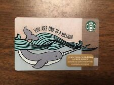 STARBUCKS Gift Card 2015 NEW Narwhal YOU ARE ONE IN A MILLION Holiday No $ Value