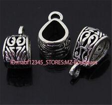 PJ108 10pcs Tibetan Silver Charms Pendant Hanger Bails Necklace Connector