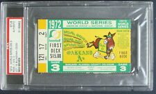 1972 WORLD SERIES GAME 3 TICKET STUB AUTHENTIC PSA 31169962