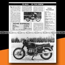 ★ BMW 600 R 60/6 & 750 R75/6 ★ 1976 Essai Moto / Original Road Test #a131
