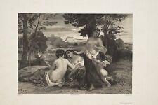 Célestin Nanteuil d'après N. Diaz Trois Graces, Lithographie XIX°