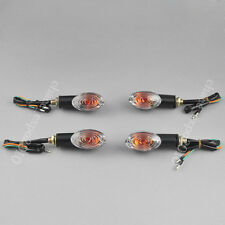 4x Motorcycle Dirt Bike Mini Turn Signal Indicator Light Honda Suzuki Yamaha 12V