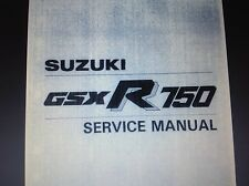 SUZUKI GSXR 750 H R DEALER WORKSHOP SERVICE MANUAL Slabside slabby 1986 87