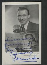 Teddy Johnson SIGNED  British radio TV presenter  qa129