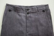 ANN DEMEULEMEESTER *ALASCO* Purple Hemp Fleece Wool Pants S 32X38