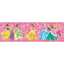 Disney Princess / Princesses on Hot Pink Sure Strip Wallpaper Border DS7600BD