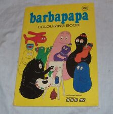"""Rare 1975 BARBAPAPA Colouring Book """"As seen on BBC-TV"""" Coloring Tison&Taylor"""