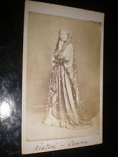 Cdv old photograph Italy actress Adelaide Ristori in Camma by Lacy London c1860s