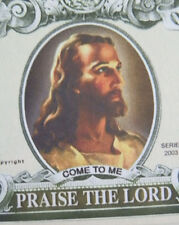 Jesus Christ PRAISE THE LORD Million-dollar novelty bill FREE SHIPPING!
