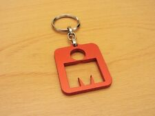 Ironman Triathlon Aluminium Emblem M-Dot Key Ring/Chain Red