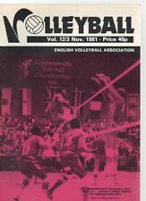 VOLLEYBALL MAGAZINE - November 1981