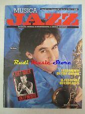 Rivista MUSICA JAZZ 11/1989 Tim Berne Chet Baker Gianluigi Trovesi Russell NO cd