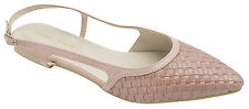 AnnaKastle New Womens Woven Emboss Slingback Flat Shoes US 5 6 7 8