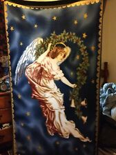 "Rare Christian Catholic Christmas Angel fleece fabric, 60"" by 36"", 1 panel"