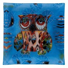 Allen Designs Cat and Owl D113 Owl Glass Plate 30cm