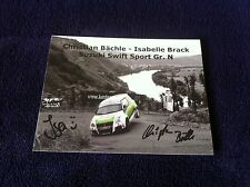 CP POSTCARD CARTOLINA SUZUKI SWIFT BACHLE RALLY RALLYE WRC 2014
