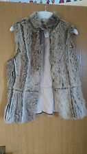 Monsoon faux fur gilet size 10 suede winter coat waistcoat jacket