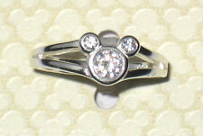 New✿Mickey Mouse Crystal Ring✿Sterling Silver .925✿Disney World Authentic✿Size 5