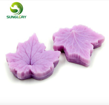2PCS Silicone Maple Leaf Mold For Cake Decoration Soap Mold Decorating Fondant