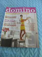 DOMINO JUNE/JULY 2008 REFRESH YOUR HOME/ LIVING WELL IN A SMALL SPACE/ BBQ MEALS