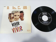 "VIVIR PARA VIVIR SOUNDTRACK OST SINGLE 7"" VINYL VINILO SPANISH EDITION 1967"