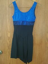 Women's XS Blue and Black figure skating dress