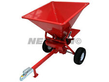 SPREADER 350LB TOW BEHIND ATV FOR SPREADING SEED FERTILIZER GRIT SAND 2921