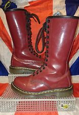 1B99 Calf High*14 Eye Cherry Red Oxblood Patent Leather Dr Doc Martens*Grunge*4