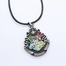 Harry Potter Hogwarts School of Witchcraft and Wizardry Necklace Keychain Silver