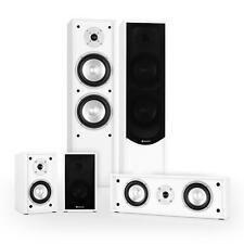 NEW 5.1 HOME ENTERTAINMENT SPEAKER SET 265W RMS - WHITE * FREE P&P UK OFFER *
