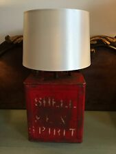 A Vintage Shell Motor Spirit petrol oil can Lamp conversion industrial chic