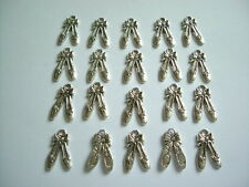 20pcs x 21mm x 13mm Antique Silver Tibetan Ballet Shoe Charms/Pendants