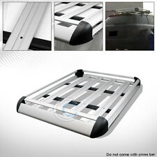 "50"" SILVER ALUMINUM ROOF RACK BASKET CAR TOP CARGO BAGGAGE CARRIER STORAGE CE5"